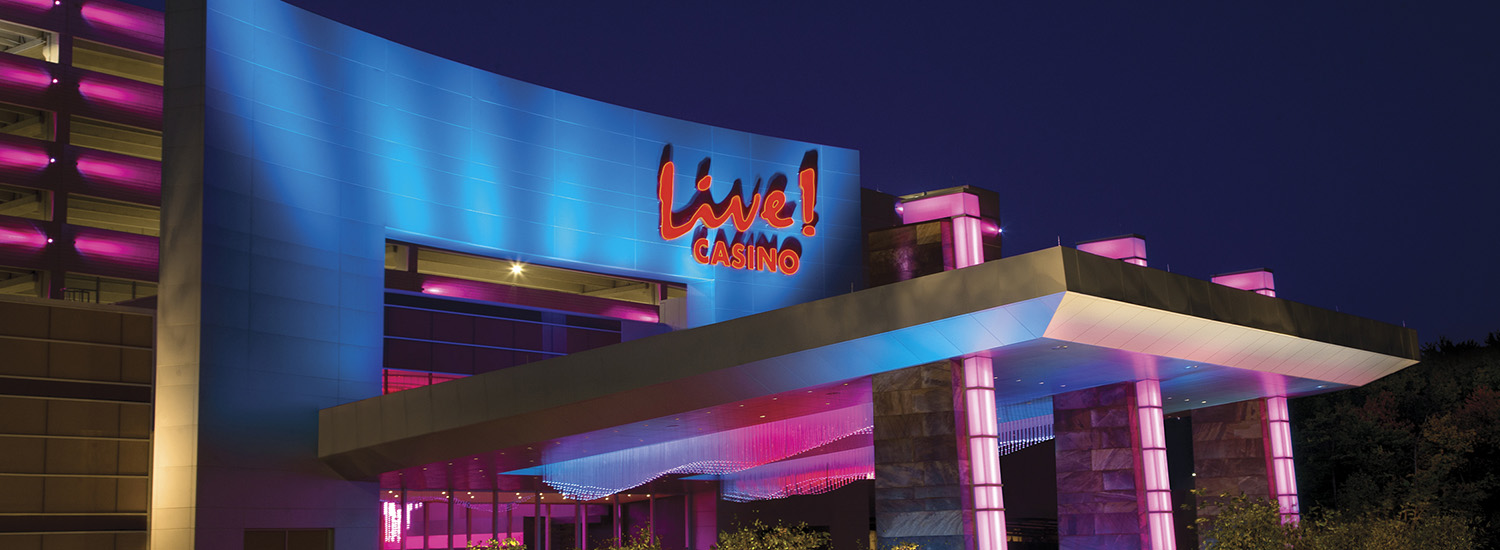 Maryland Live Casino - Main Entrance at Night