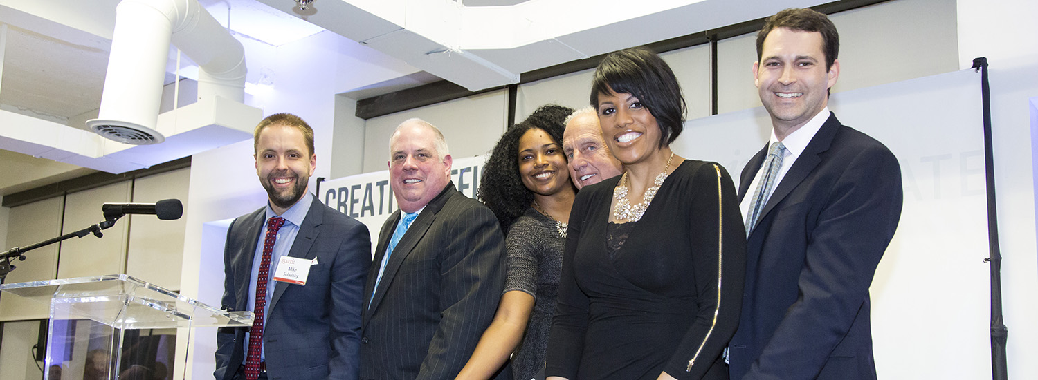 Speakers at the opening of Spark Collaborative Workspace in Baltimore